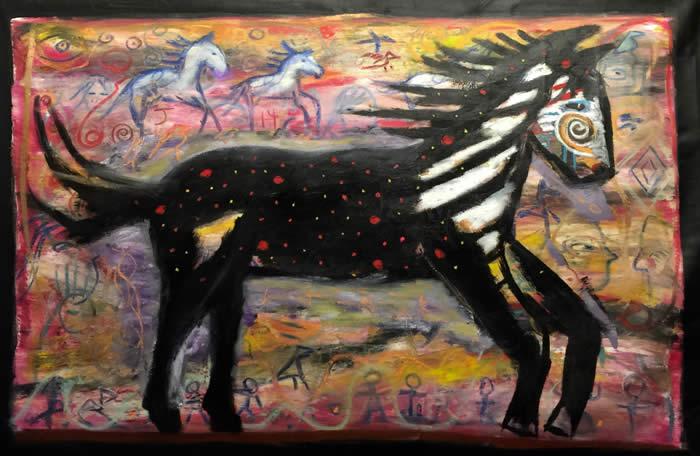 Horse Butt Modern Art